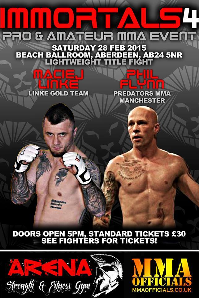 Immortals Fight Promotions 4 - Fight Talk Scotland Preview