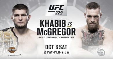 Khabib Nurmagomedov Vs Conor McGregor set for UFC 229 in Las Vegas