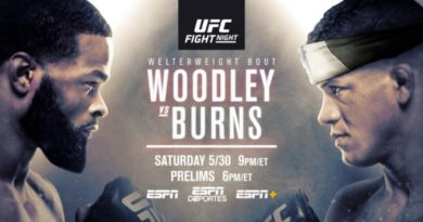 UFC Vegas: Woodley Vs. Burns Preview